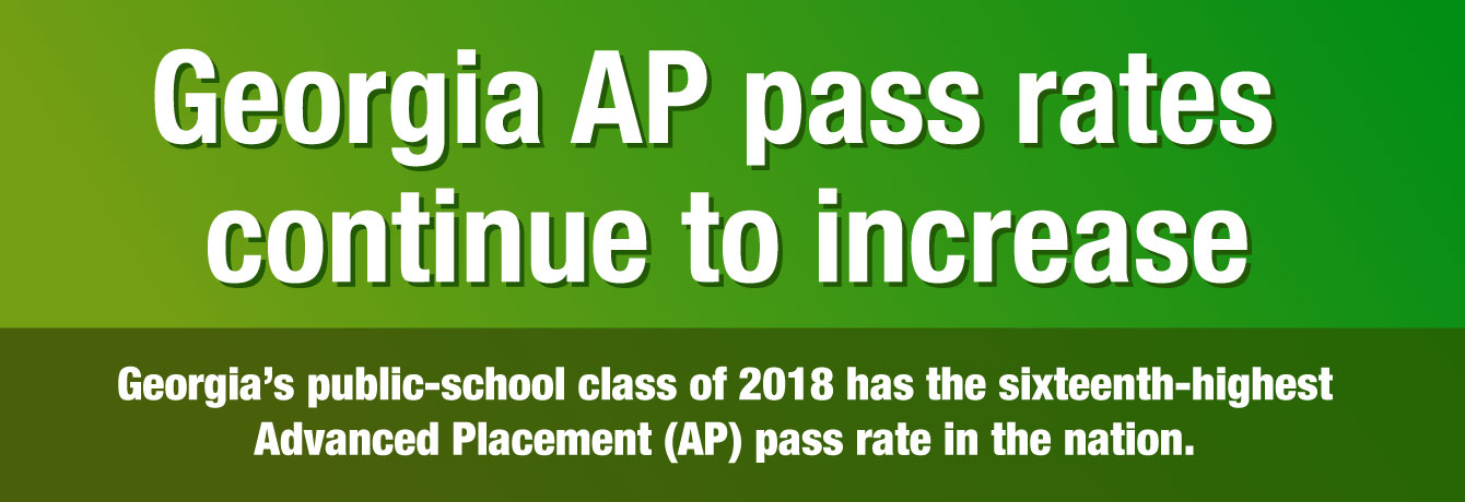 Georgia AP pass rates continue to increase